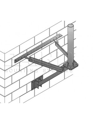 "Antenna Mount  Wall  36"" Offset From Wall, 4.00"" O.D. x 3' Mast 1.8M"