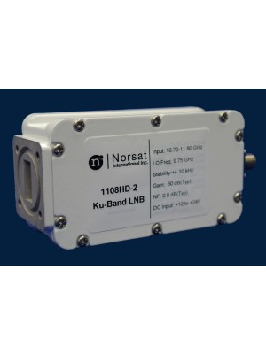 LNB, Ku-Band, PLL, Dual-Band, 10.70 - 11.70 GHz & 11.70 - 12.75 GHz, L.O. Stabilty EXT. REF., Noise Figure 0.8 dB, F-Connector
