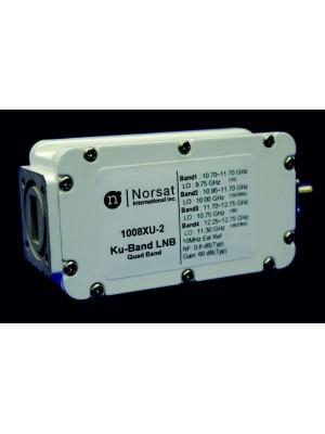 LNB, Ku-Band, PLL, Quad-Band, 10.70 - 12.75 GHz, L.O. Stability EXT. REF., Noise Figure 0.8 dB, F-Connector