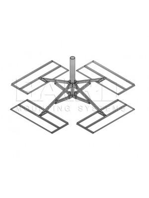 "Antenna Mount  (2 Trays), 5.56"" O.D. x 3' Mast w/ Pad"