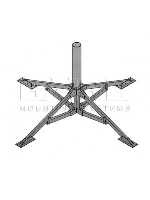 "Antenna Mount Penetrating Mount, 5.56"" O.D. x 3' Mast"