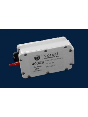 LNA, Ku-Band, PLL, 10.70 -12.75 GHz, Noise figure 0.8dB, N Connector, Ppower on Mc-Connector
