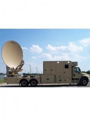 Antenna, Vehicle/Trailer-Mount, C-Band/Ku-Band,Premium SNG/Military,Motorized Transportable, 3.8m
