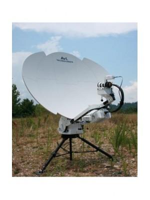 Antenna, Fly-away,Ku-Band,SNG/Military Tri-Band, Motorized Transportable, 1.0m