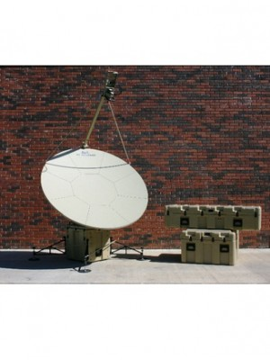 Antenna, Fly-away,Ku-Band,SNG/Military,Tri-Band, Motorized,Transportable,1.6m