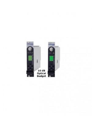 Fiber IFL,PL7440T and PL7440R10 RF Link Wide Power Range, 10 dB Optical Budget 25Km - 1310nm or 40Km - 1550nm